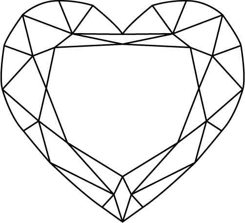 Line Drawing Heart Shape : Heart shaped diamond drawing imgkid the image