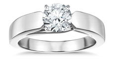 Flat tapered solitaire engagement ring - 8 ways To Make Your Engagement Ring's Diamond Look Bigger