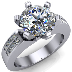 the chunky prongs on this engagement ring overpower the diamond
