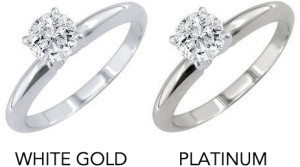 white gold and platinum engagement rings - 8 ways To Make Your Engagement Ring's Diamond Look Bigger