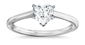 Heart Engagement Rings Info on Diamonds Quality Value