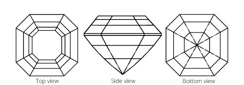 Image showing Asscher diamond cut