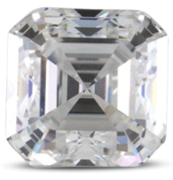 Asscher diamond color E