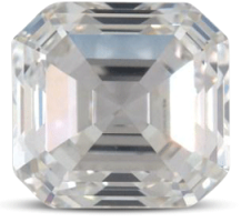 Asscher diamond G color