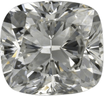 Chunky cut cushion diamond