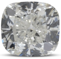 Cushion diamond colour G