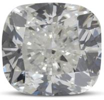 Cushion diamond colour G