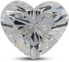 heart shaped diamond with color E