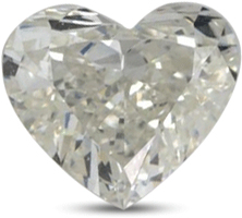 Heart shaped diamond with color I
