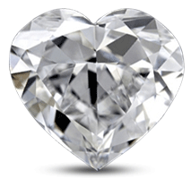Heart shaped diamond with poor symmetry