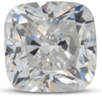 Cushion diamond color D