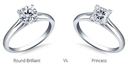 princess comparison - Princess cut engagement rings