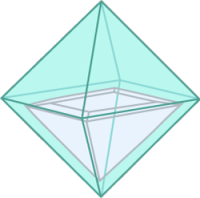 image showing a princess cut diamond in a rough diamond