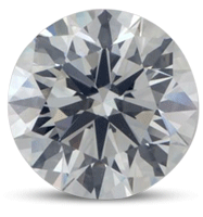 Round brilliant diamond color E