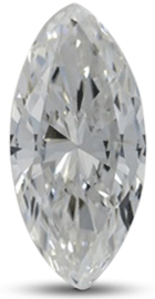 Marquise diamond with color E
