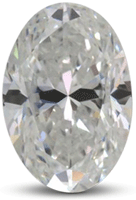 Oval diamond with color E