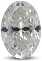 Oval diamond with color E