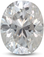 Oval diamond with color G