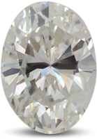 Oval diamond with color I