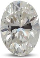 Oval diamond with color I