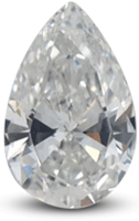 Pear diamond showing bowtie effect