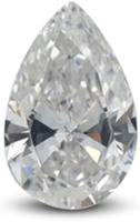 Pear diamond showing bowtie effect