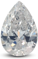Pear diamond with E color grade