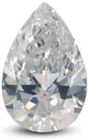 Pear diamond with E color grade