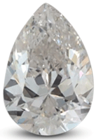 Pear diamond with G color grade