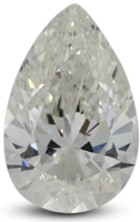 Pear diamond with I color grade