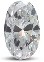 Oval diamond with straight sides