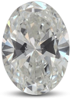 oval diamond with round even ends and a full middle