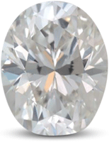 oval diamond with square ends