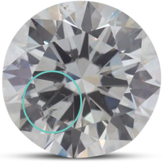 diamond with si1 clarity and visible inclusions