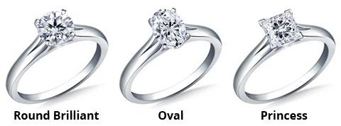 Comparison1 - Round Engagement Rings