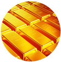 image of gold bars stacked