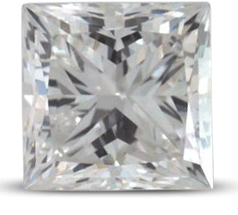 Princess diamond color E
