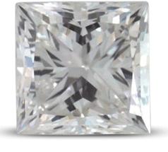 Princess cut colour E - Radiant cut engagement rings