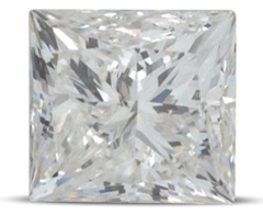 Princess diamond colour H