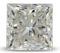 Princess cut diamond color J