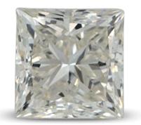 Princess cut diamond color J