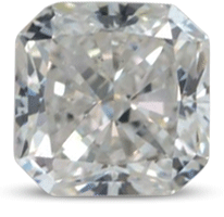 Radiant cut diamond with color H
