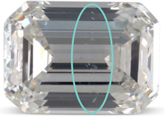 SI1 diamond with visible inclusions