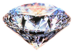 Sparkling round brilliant diamond