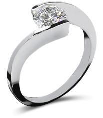 Twisted tension platinum ring - Platinum engagement rings