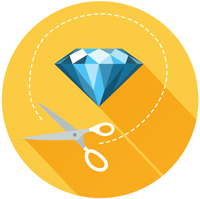 icon for diamond cut