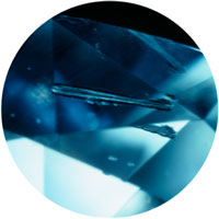 diamond clarity inclusion needle
