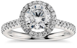 halo solitaire - Diamond Carat