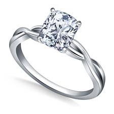 infinity knot cushion e1425442628809 - Platinum engagement rings