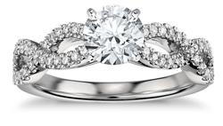 infinity twist pave platinum - Platinum engagement rings